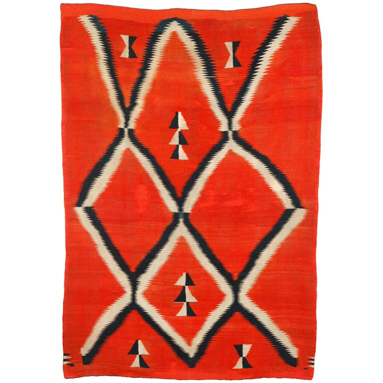 19th Century, Navajo Transitional Blanket For Sale