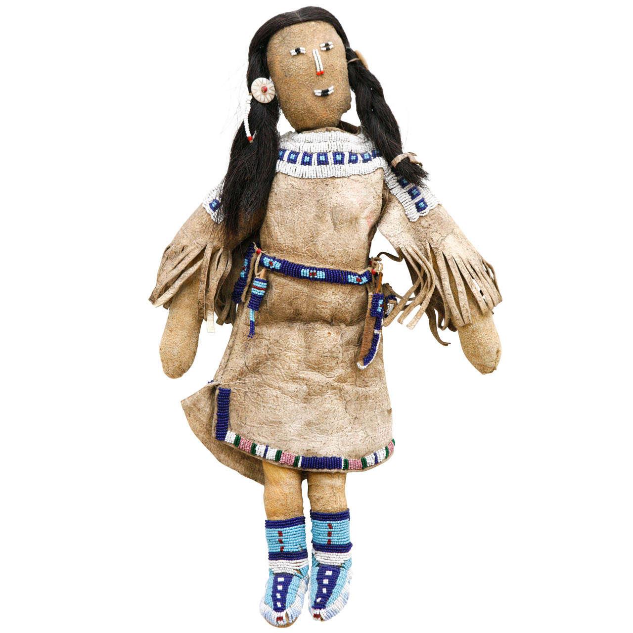 20th Century Plains Indian Female Doll