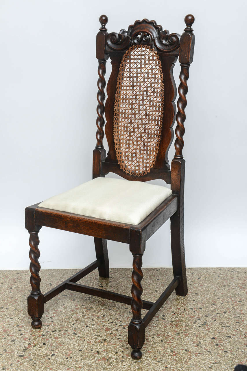 Set Of Four English Barley Twist Side Chairs 19th Century For Sale At 1stdibs