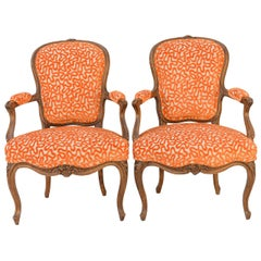 Pair of 18th Century French Walnut Fauteuils