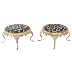Unusual Pair of Round Footstools, Early 20th Century