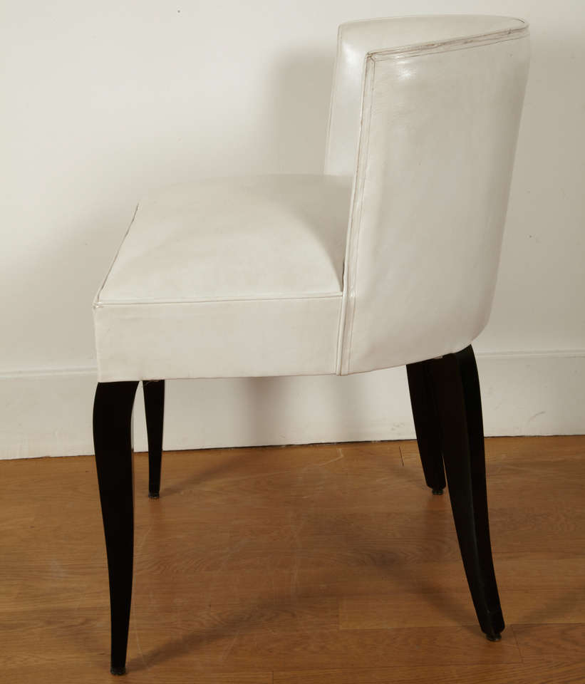 Art Deco Pair of Modernist Chairs by Jacques Adnet, 1930s For Sale