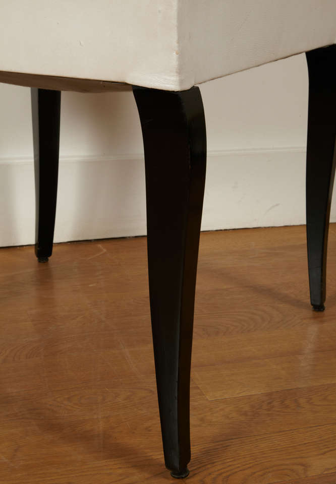 Pair of Modernist Chairs by Jacques Adnet, 1930s In Good Condition For Sale In Paris, FR