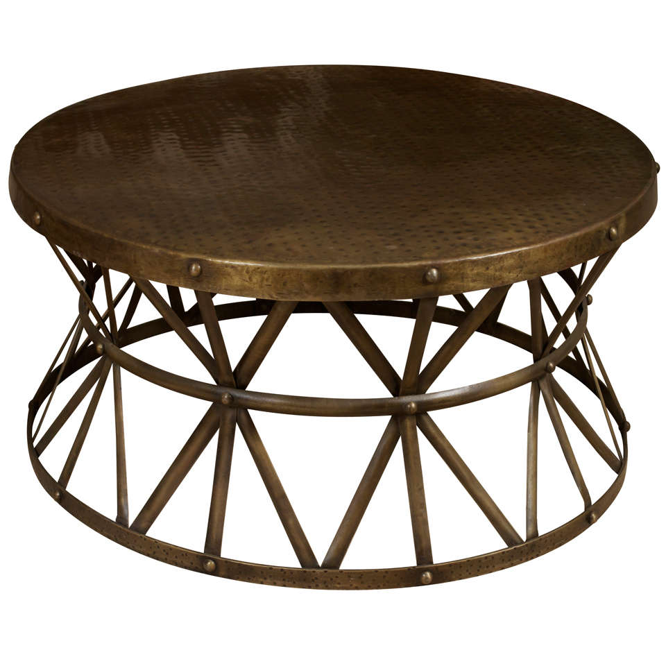 a round metal coffee table at 1stdibs. Black Bedroom Furniture Sets. Home Design Ideas