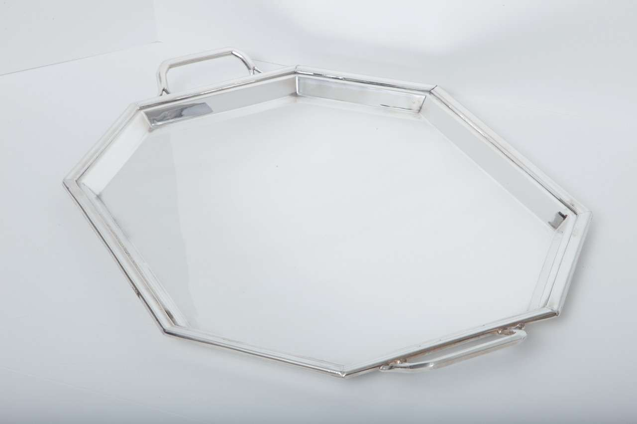 Completely new Large Silver-Plate Art Deco Serving Tray by Walker and Hall at 1stdibs YR93
