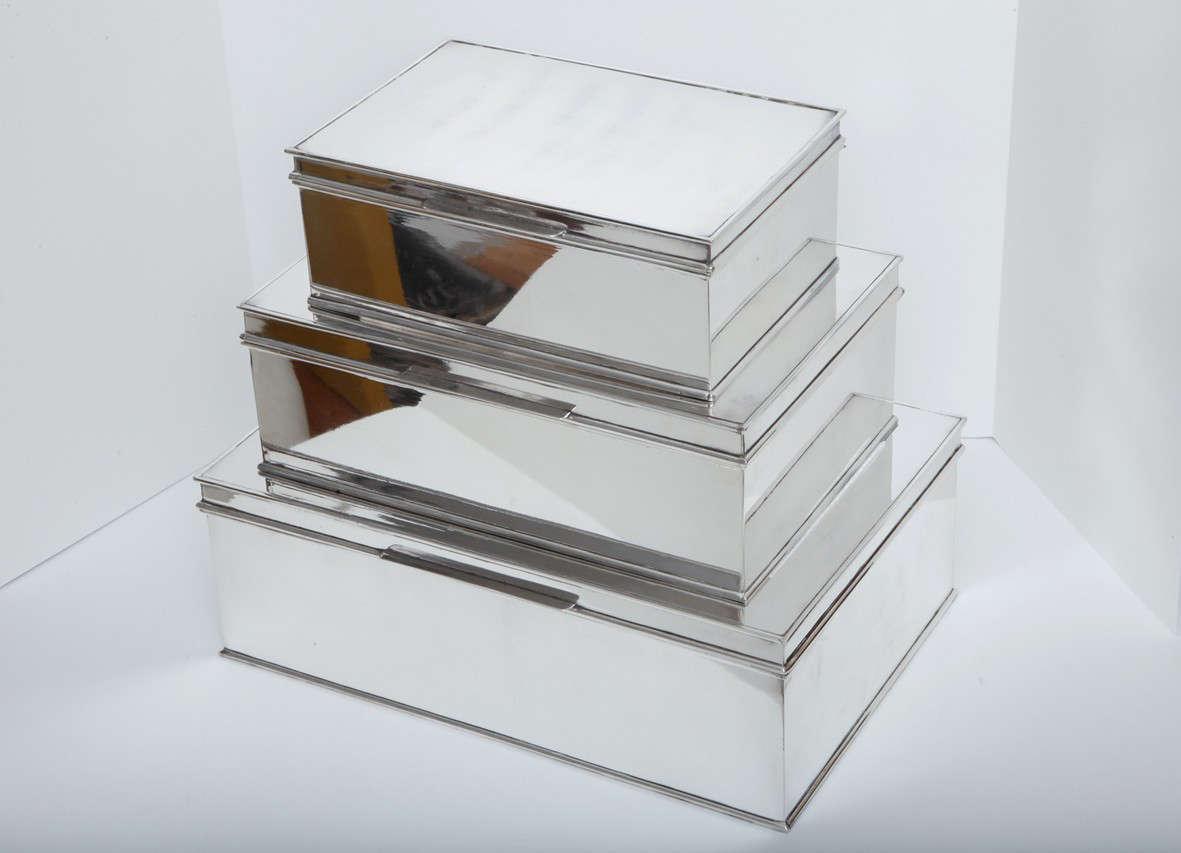 Modern Oversized Handmade Silver-Plate Boxes 2