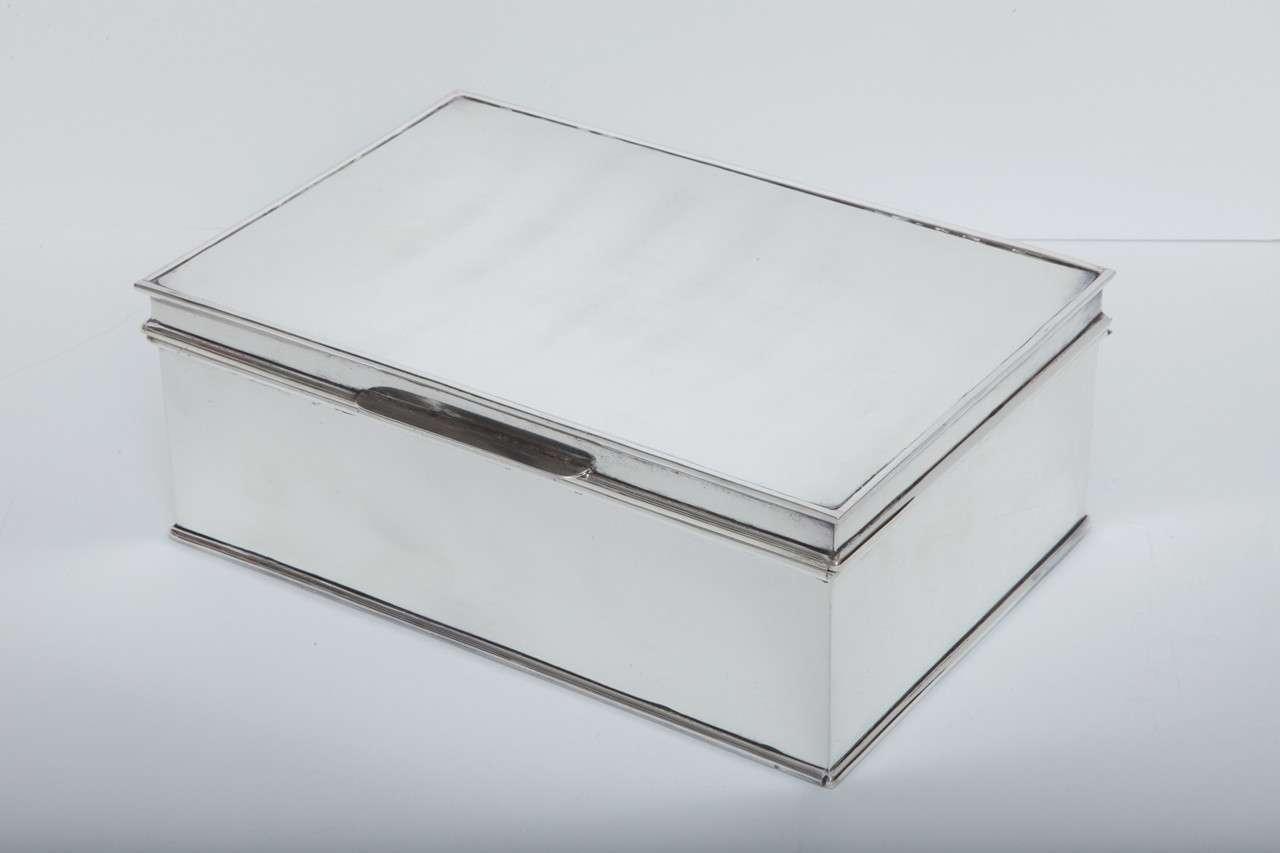 Modern Oversized Handmade Silver-Plate Boxes 5