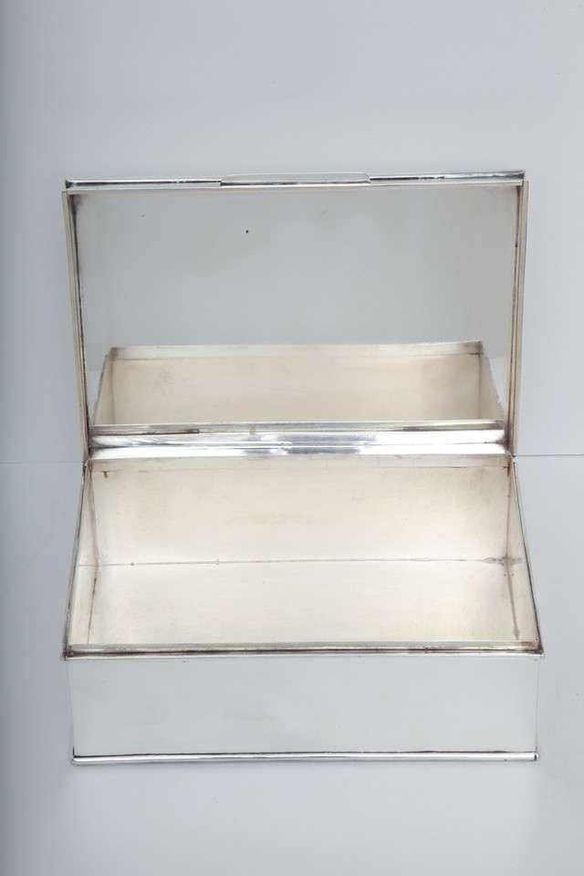 Modern Oversized Handmade Silver-Plate Boxes 6