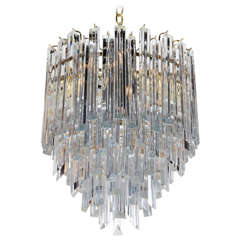 Spectacular Five Tier Crystal Chandelier by Camer