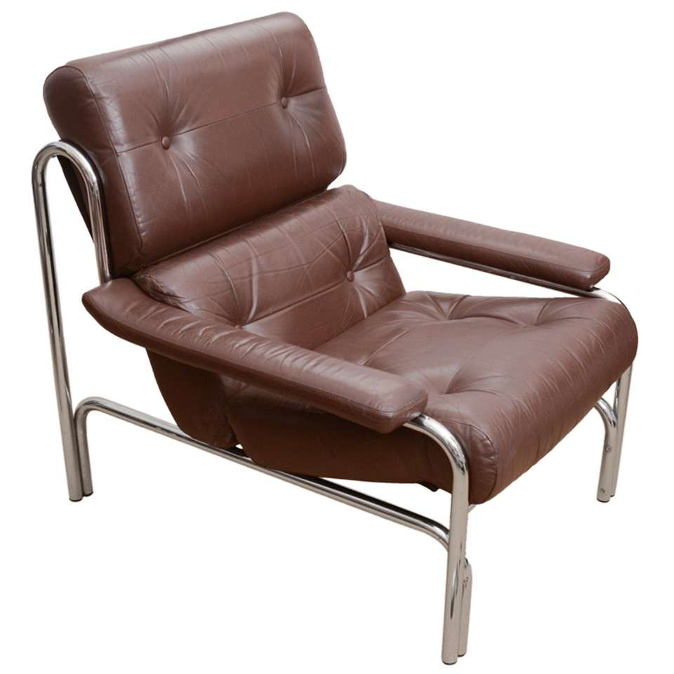 1960 S Pieff Leather And Chrome Chair At 1stdibs