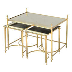Set of Three Jansen Style Nesting Tables