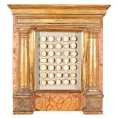 A Gilt and Faux Marble Painted Framed Classical Relief Collection, Circa 1700
