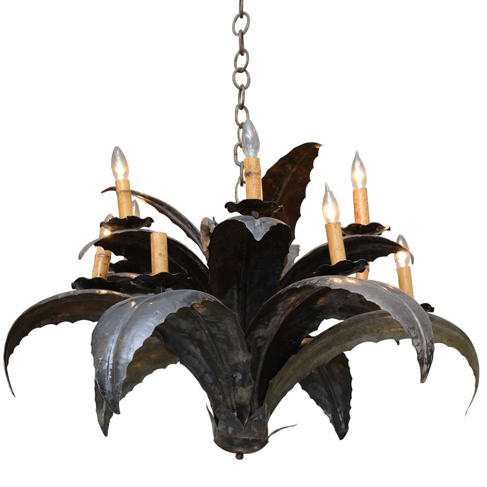 Agave metal chandelier at 1stdibs agave metal chandelier 1 arubaitofo Choice Image