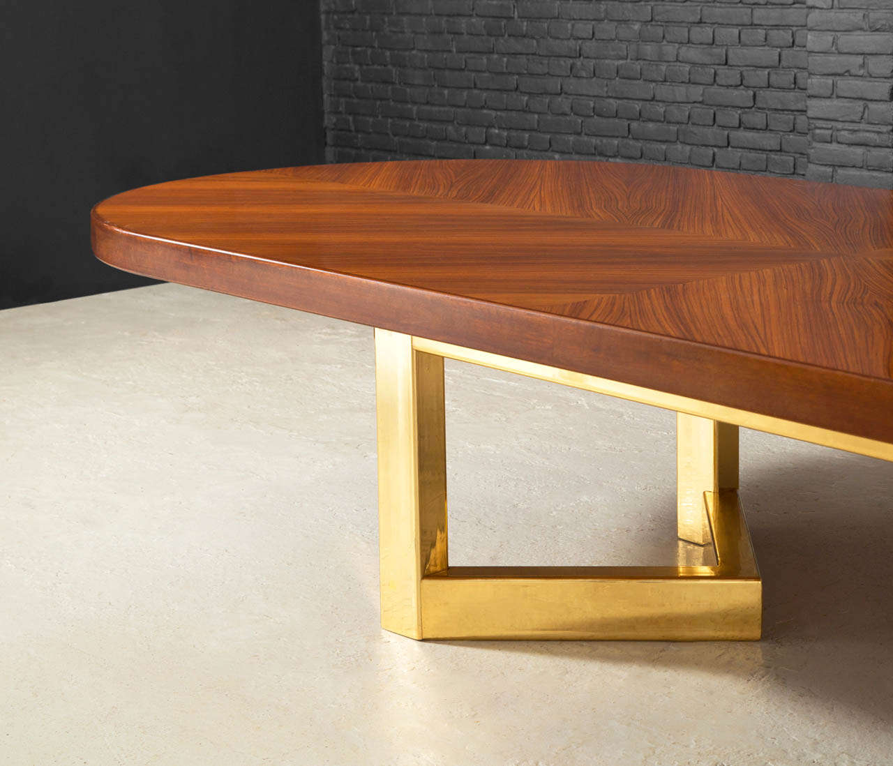 Foot Conference Table In Rosewood With Brass Base For Sale At Stdibs - 4 foot conference table
