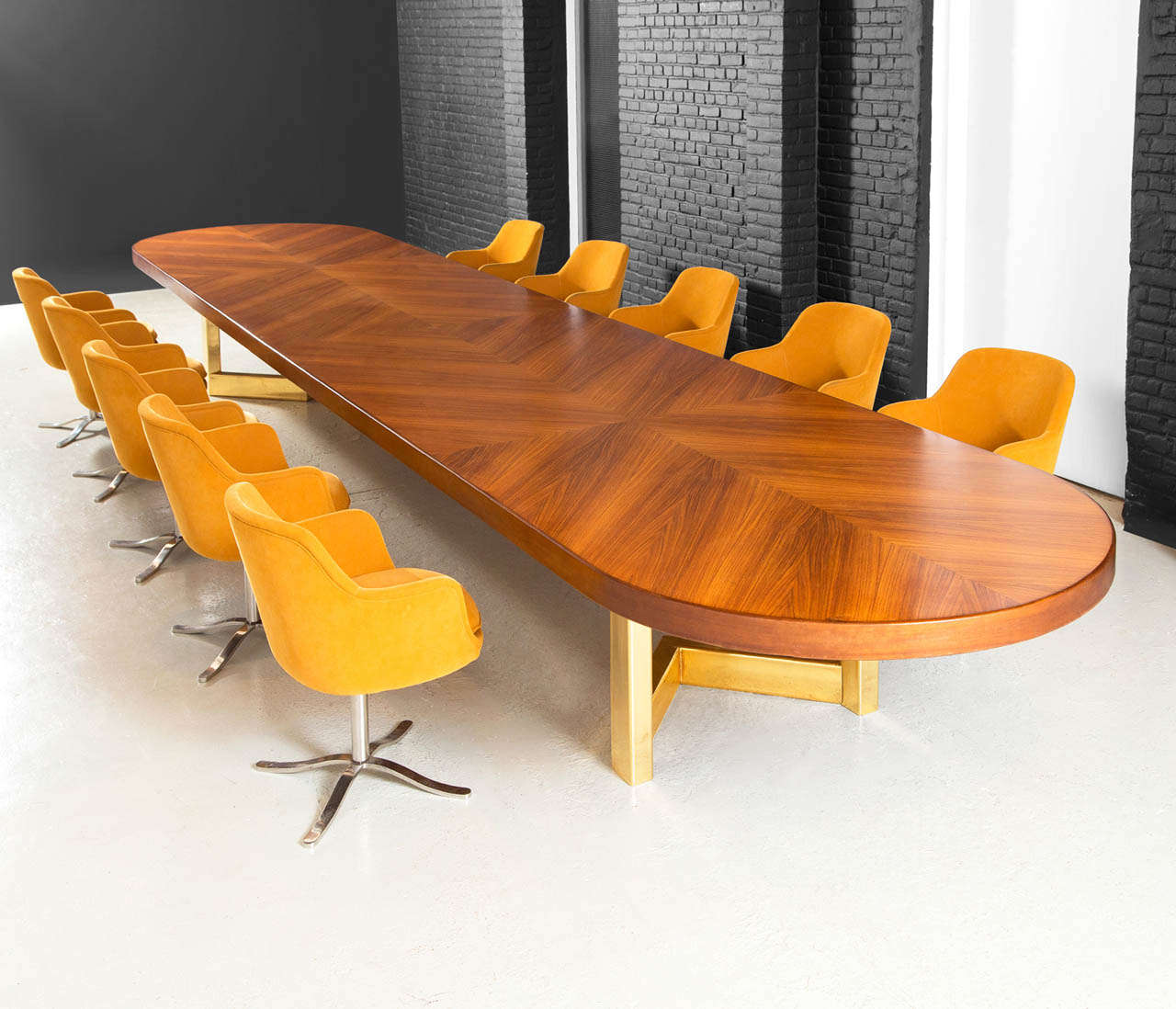 Foot Conference Table In Rosewood With Brass Base For Sale At Stdibs - 5 foot conference table