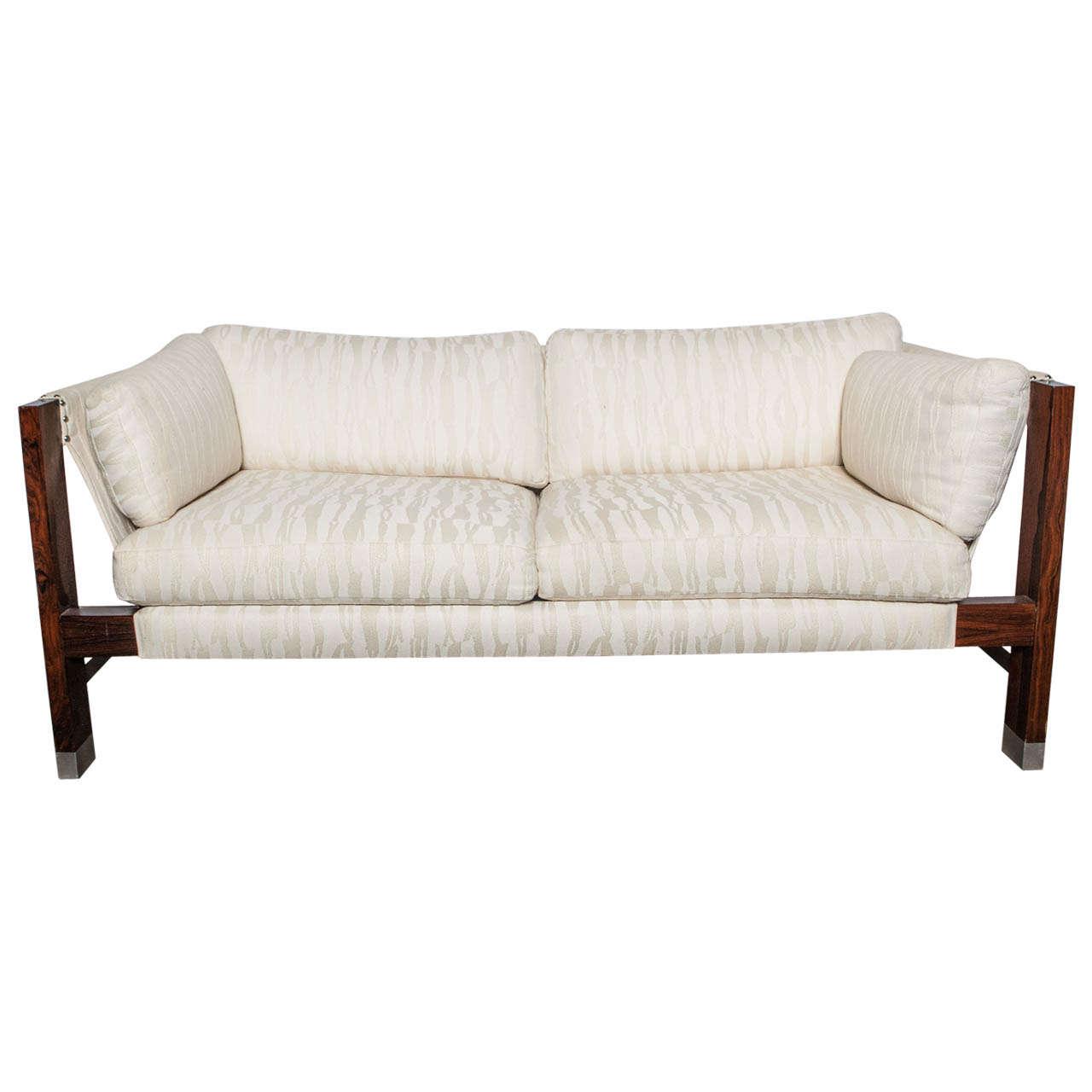 milo baughman sling sofa at 1stdibs