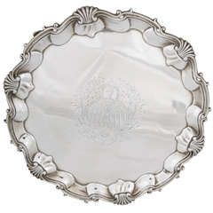 A Fine Large Geogian Silver Salver of American Interest