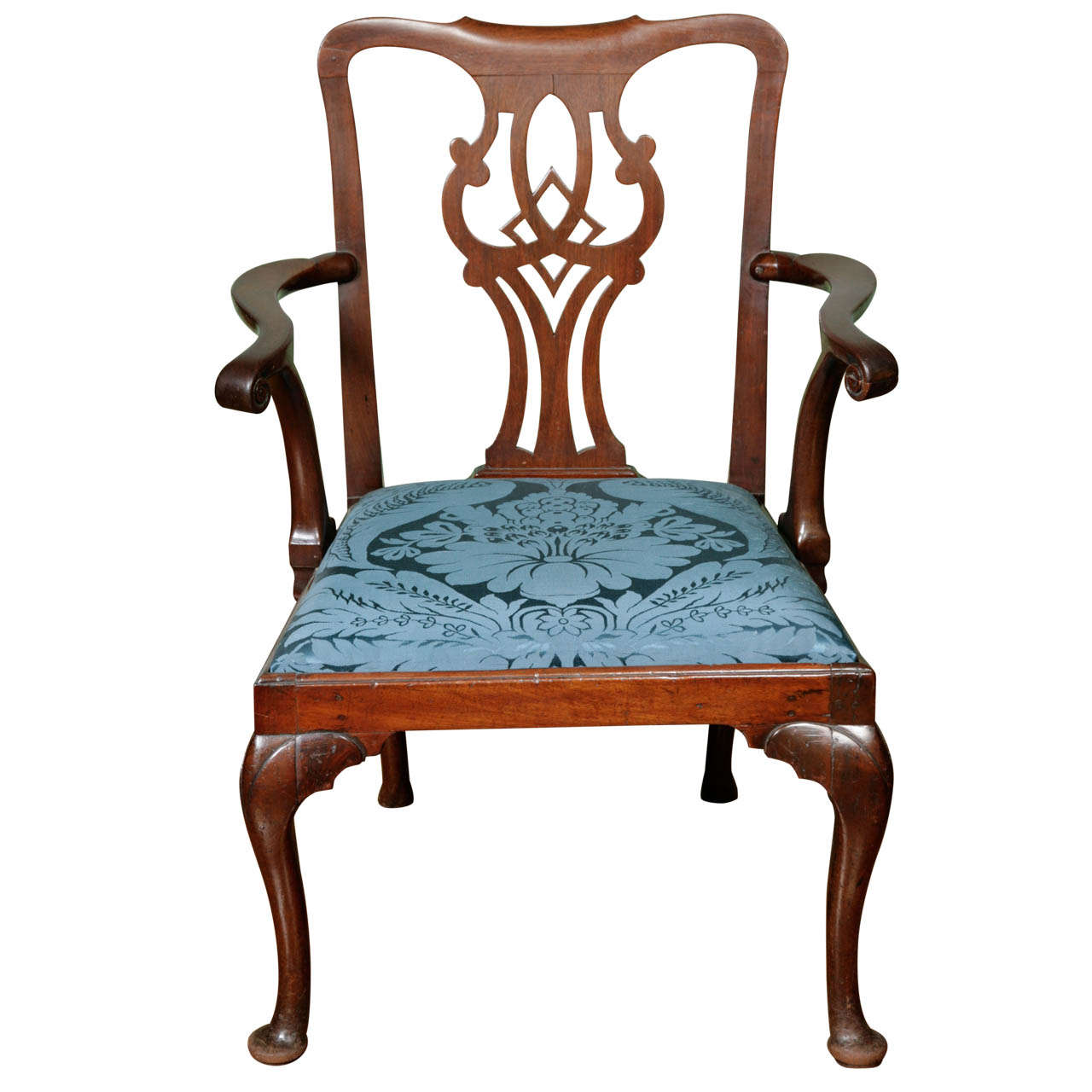 A George Ii Mahogany Open Armchair Circa 1750 At 1stdibs