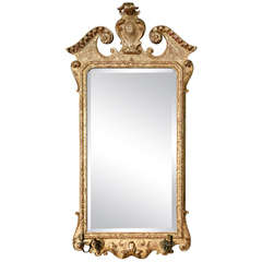 George II Giltwood Mirror with Candle Sconces, circa 1730