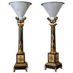Pair of 1960s Maison Malabert Lamps