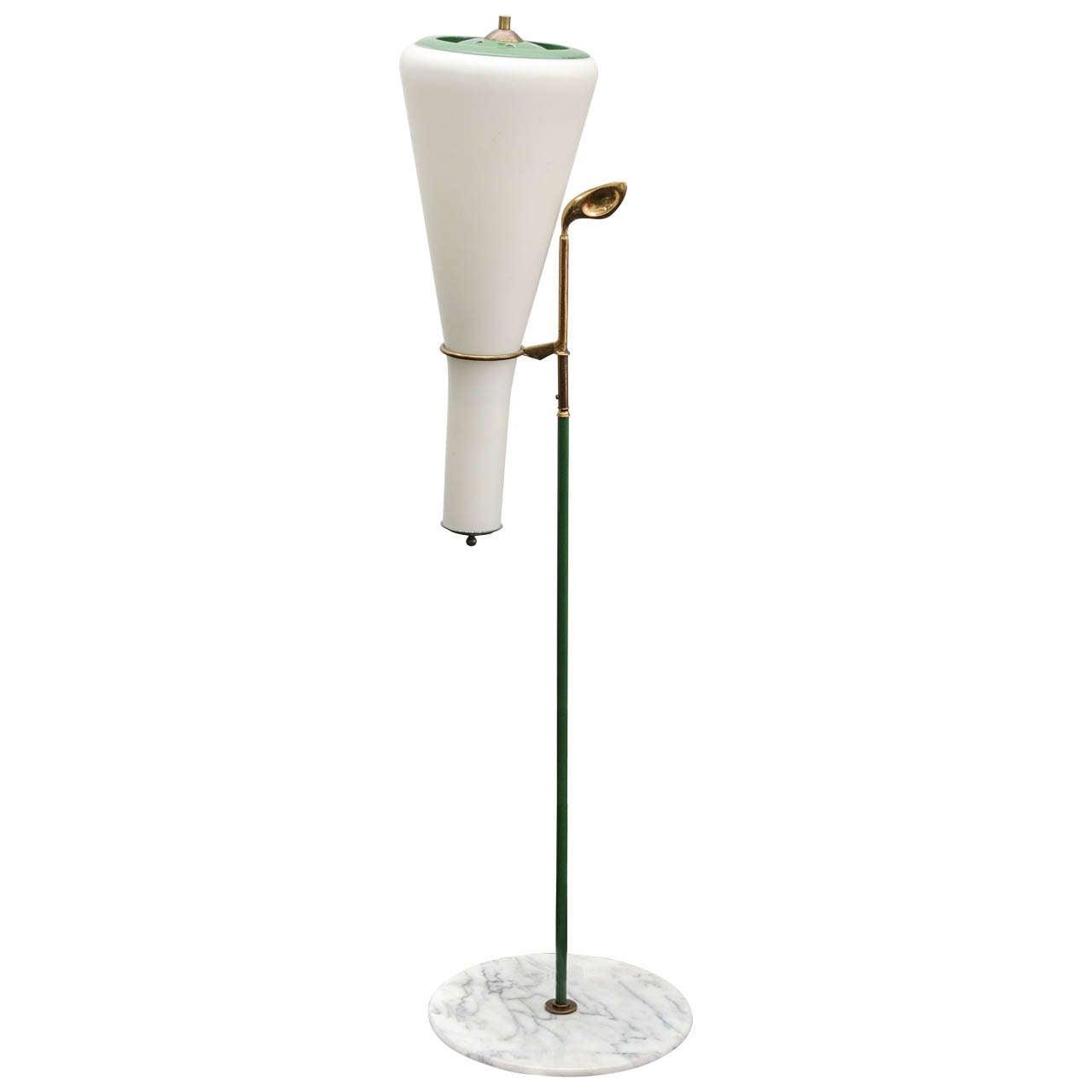 Golf Iron w/Light Caddy Italian Floor Lamp