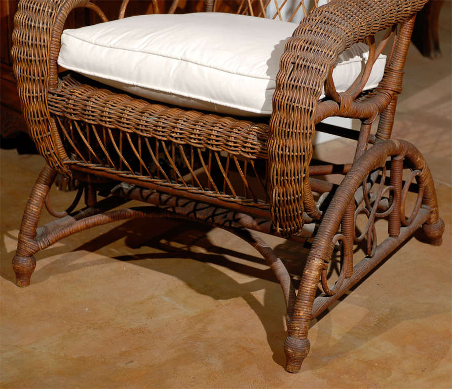 19th Century Wicker Rocking Chair From England At 1stdibs