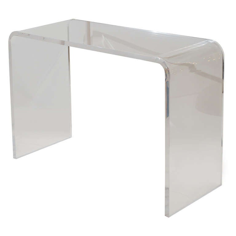 Lucite waterfall console at stdibs