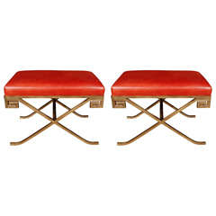 Pair Of Gilt Metal Garrisson Rousseau Benches