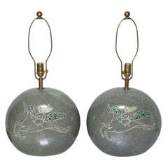 pair of Kelby Ceramic Table Lamps