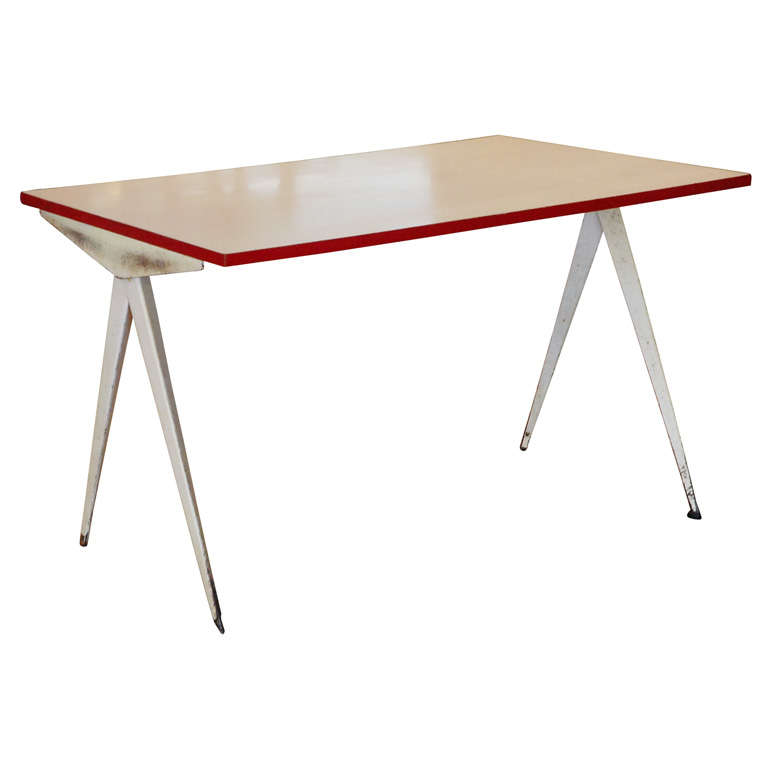 Jean prouve 39 compas 39 cafeteria table france 1953 at 1stdibs - Table basse jean prouve ...