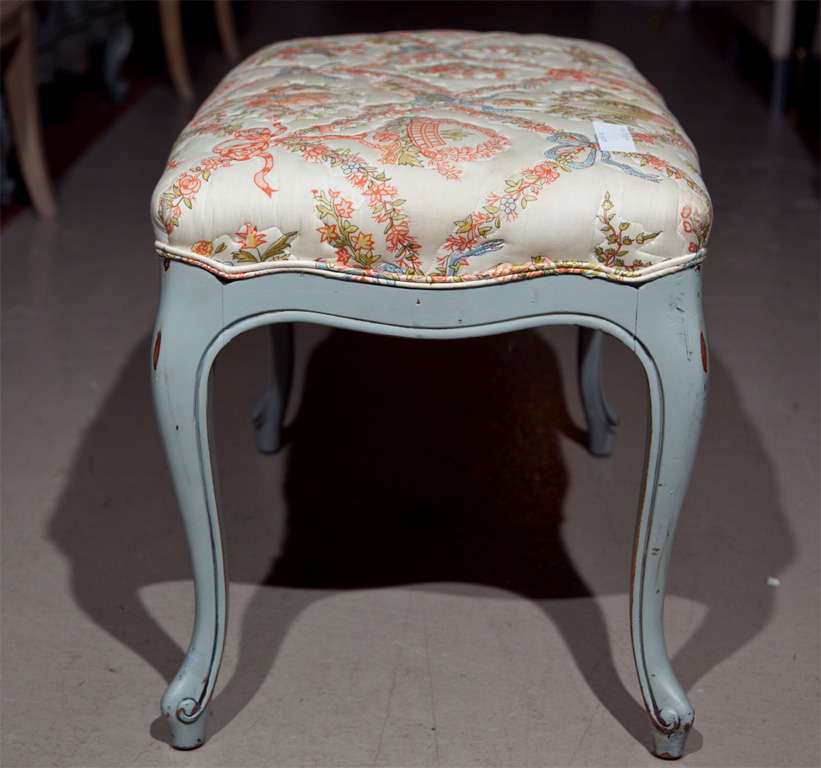 American Swedish Provincial Style Bench Or Stool For Sale