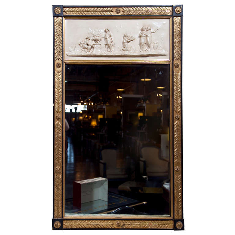 Hollywood Regency Style French Trumeau Mirror