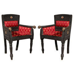 Pair of Anglo Indian Armchairs