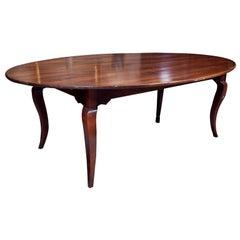 Cherry Oval Farm Table