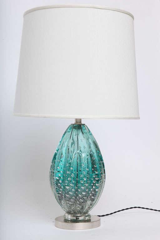 Mid-Century Modern 1950s Italian Art Glass Table Lamp by Seguso For Sale
