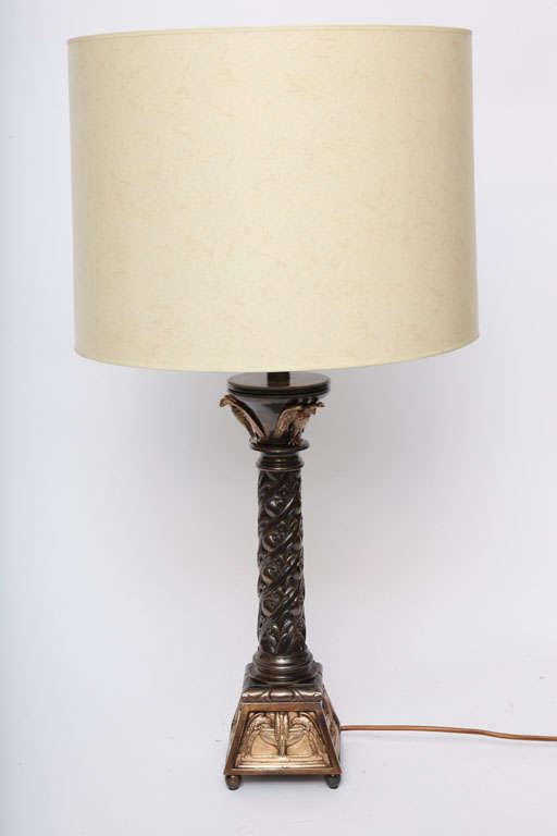 Pair of Austrian Classical Modern Bronze Table Lamps In Excellent Condition For Sale In New York, NY