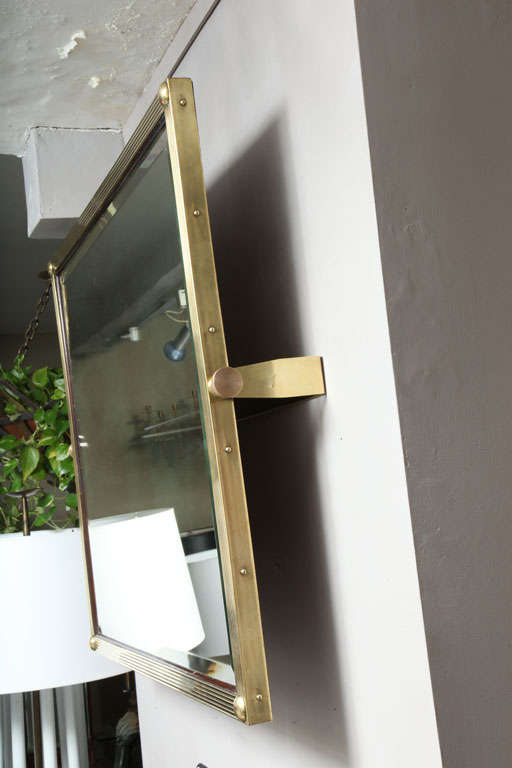 Aesthetic Adjustable Brass Wall Mirror For Sale at 1stdibs
