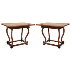 Pair of Very Rare Venetian Tables
