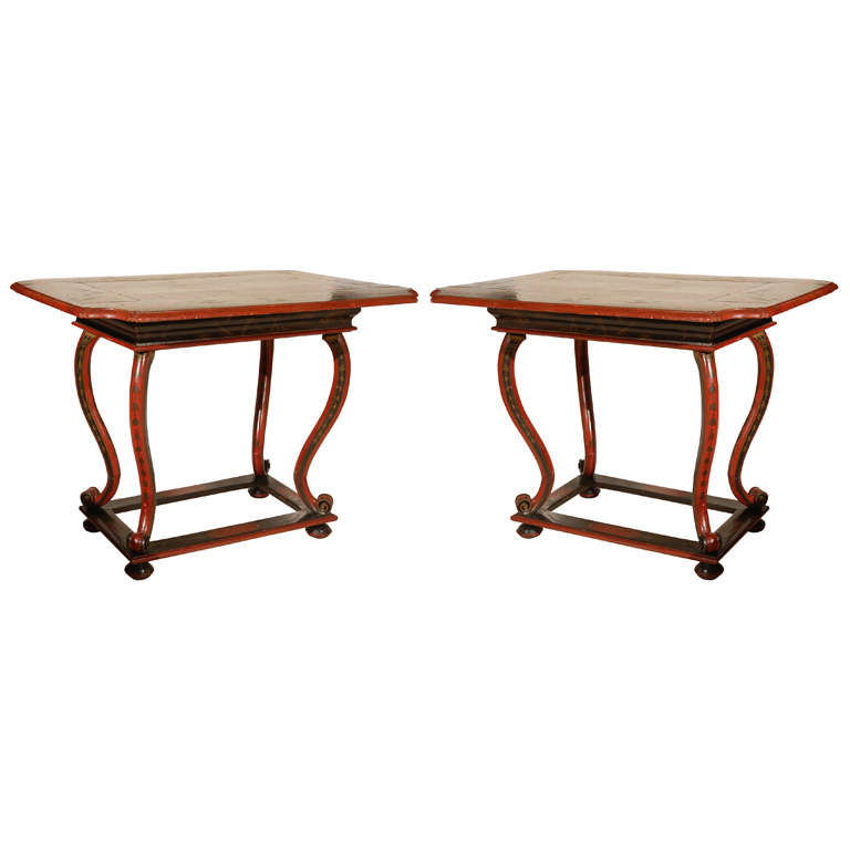 Pair of Very Rare Venetian Tables