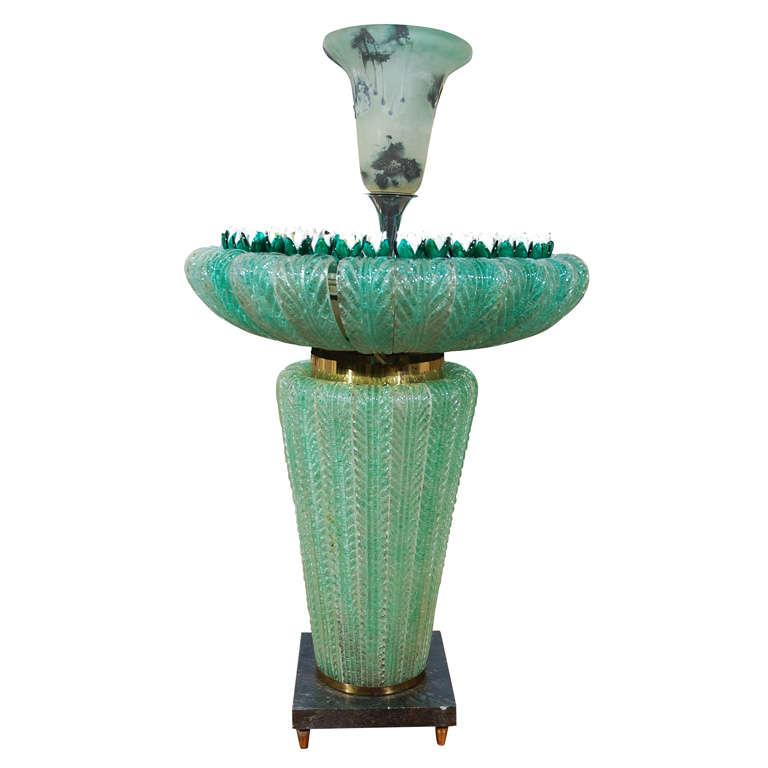 Rare 1950's Murano Indoor Aqua Fountain