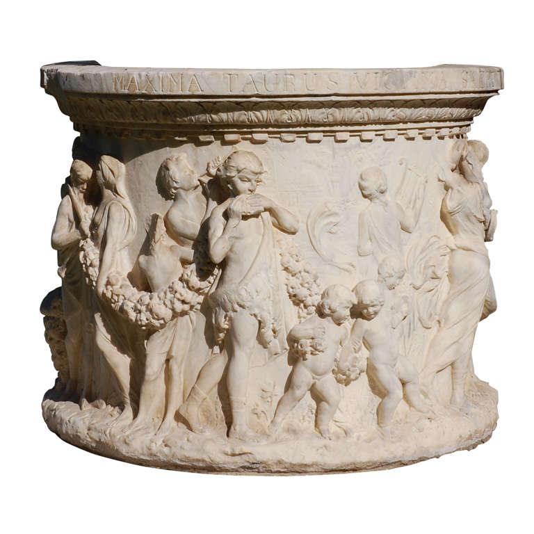 19th Century Italian Marble Well Head