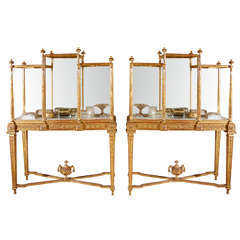 Pair of 19th Century French Giltwood Vitrines from a Paris Jeweler