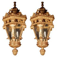 22 Karat Giltwood Carved Lantern