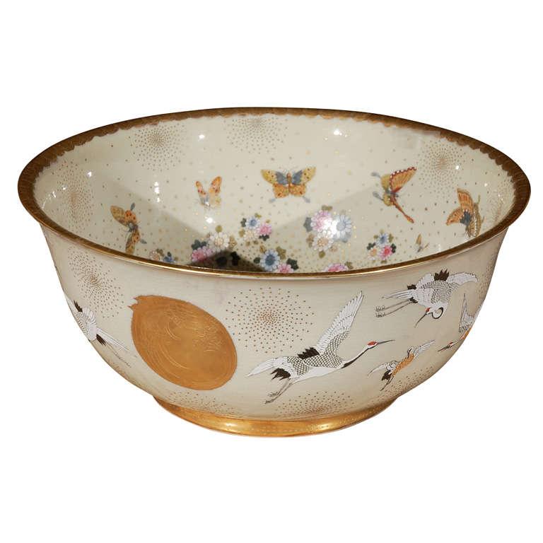 Japanese Porcelain Center Bowl