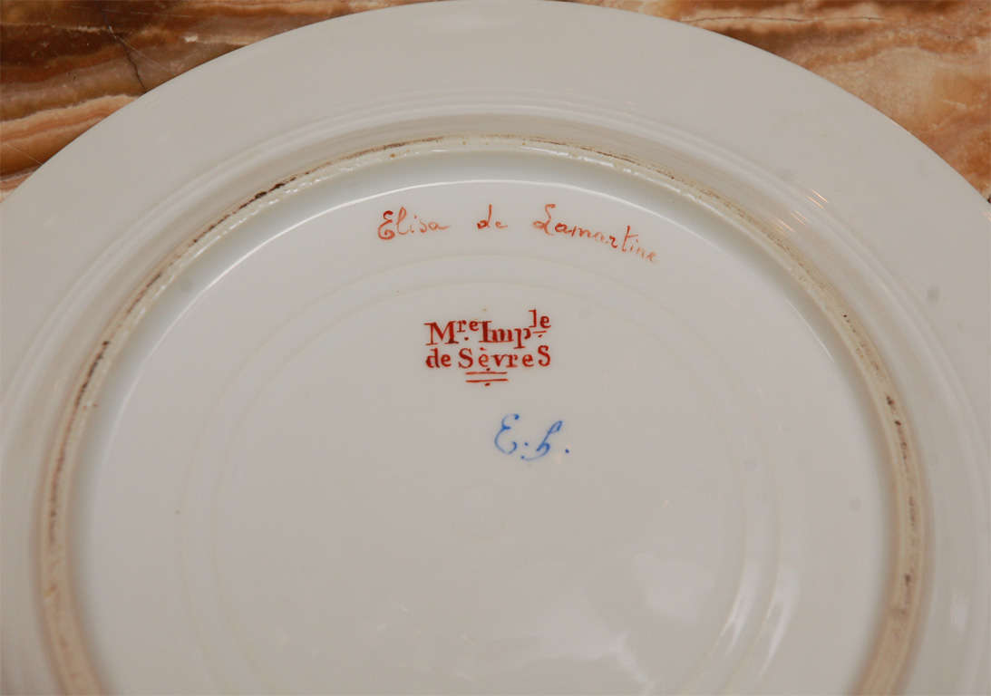 19th Century French Sevres Plates For Sale 2