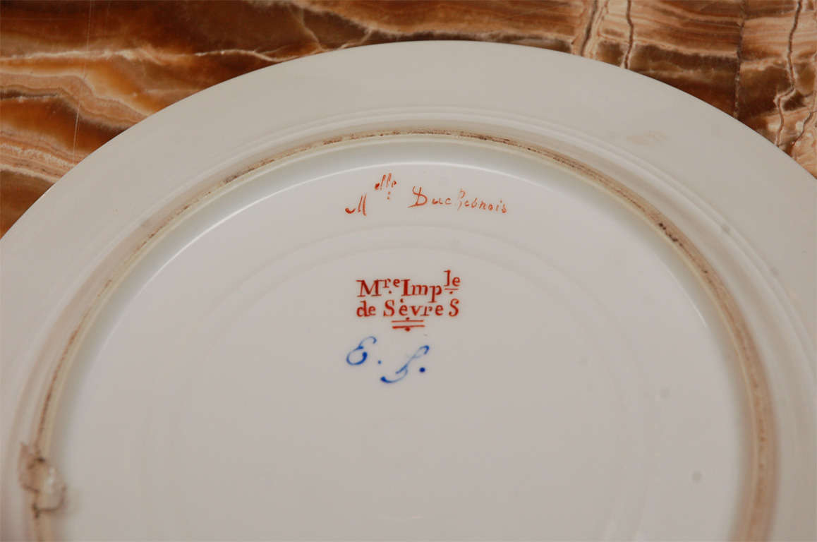 19th Century French Sevres Plates For Sale 3