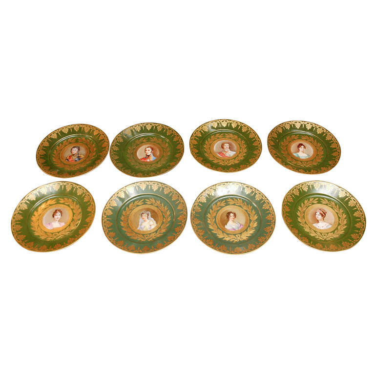 19th Century French Sevres Plates For Sale