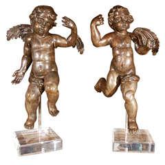 Pair of Late 17th Century Italian Cherubs