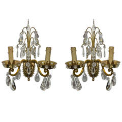 Two 1960s Sconces Attributed to Maison Baguès