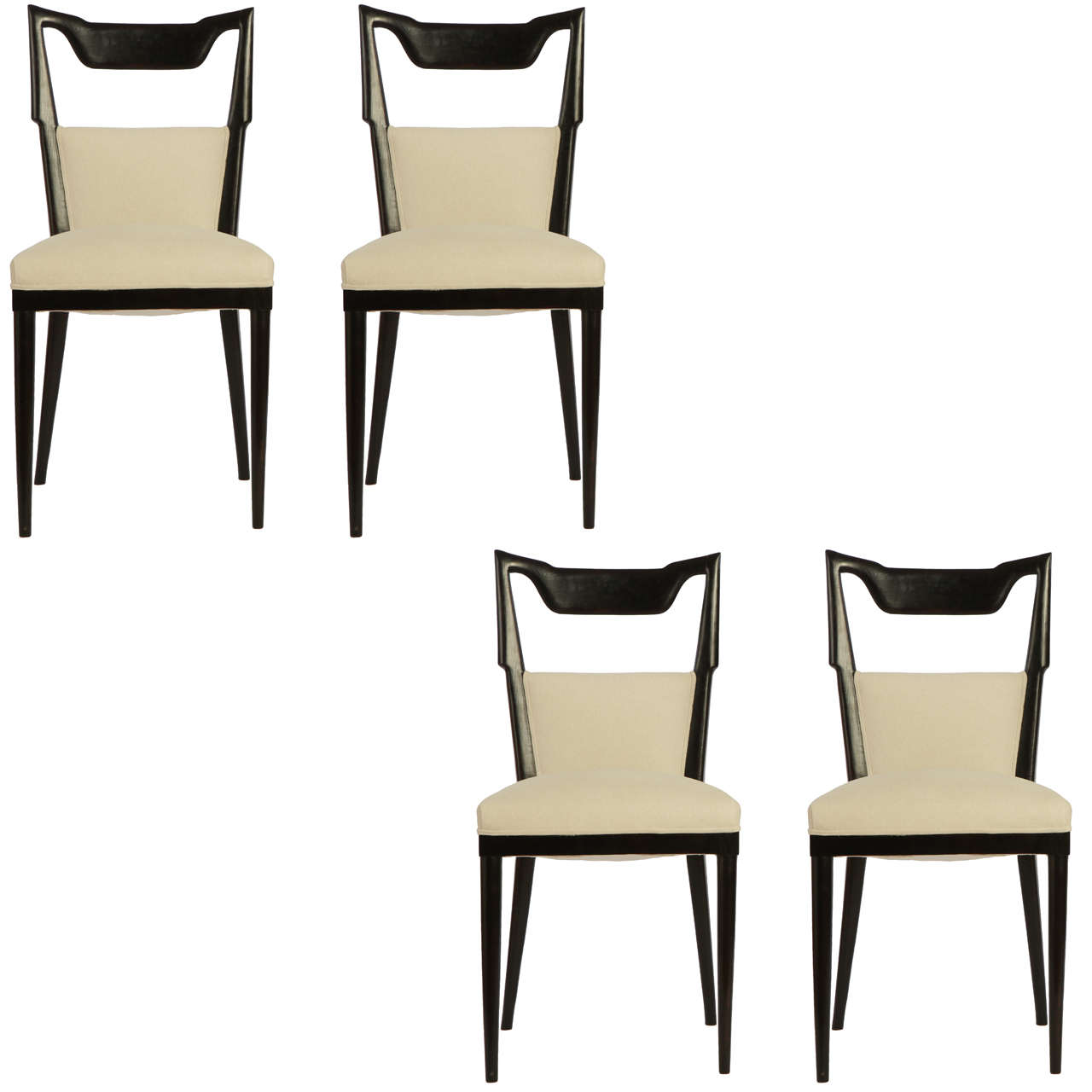 set of four paolo buffa dining chairs 1950 at 1stdibs